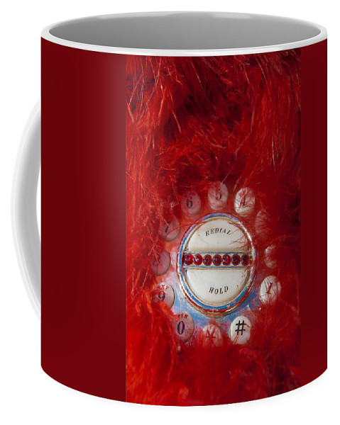 Mid Century Coffee Mug featuring the photograph Red Phone For Emergencies by Scott Campbell