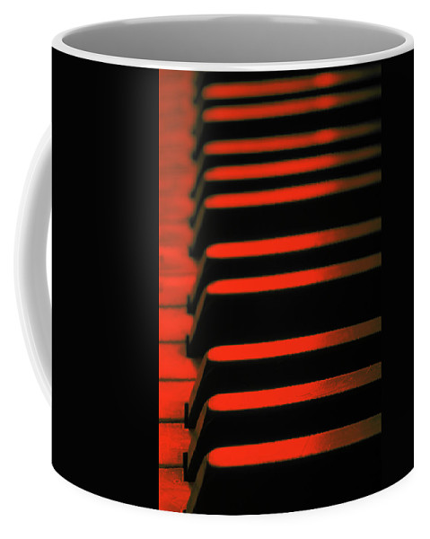 Chord Coffee Mug featuring the photograph Red Piano by Steve Ball