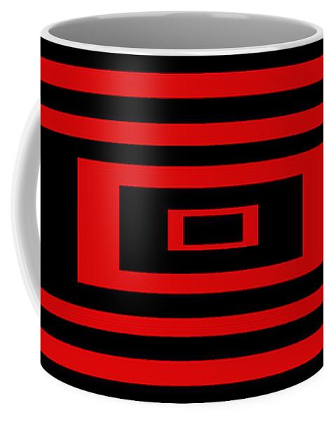 Pop Art Coffee Mug featuring the digital art Red Rectangle by Mike McGlothlen