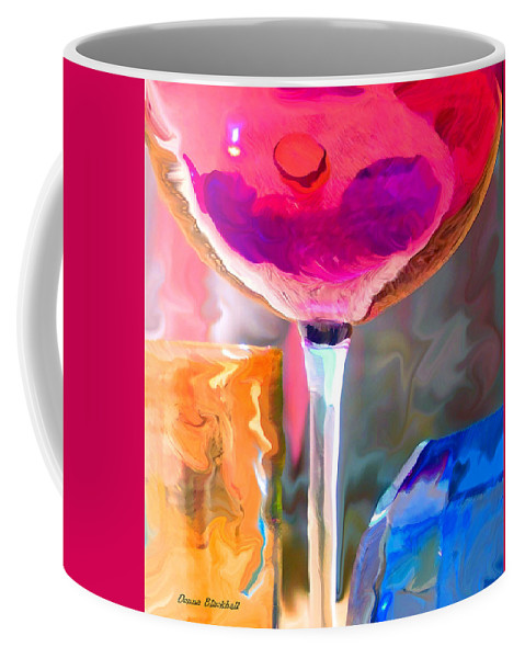 Glass Coffee Mug featuring the photograph Red Red Wine by Donna Blackhall