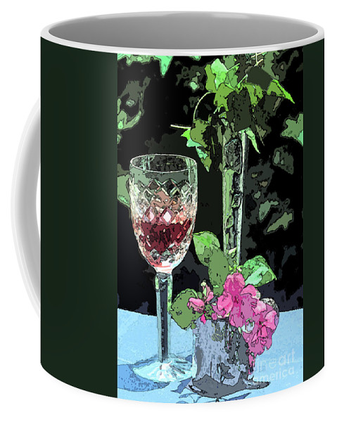 Still Life Coffee Mug featuring the photograph Red Red Wine by Geoff Crego