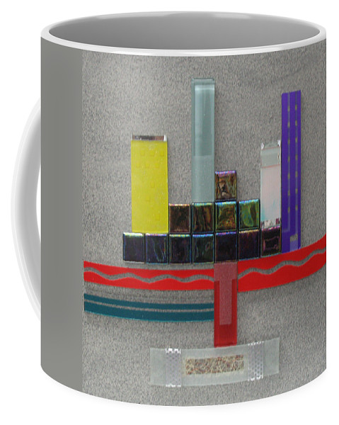 Assemblage Coffee Mug featuring the relief Red River City by Elaine Booth-Kallweit