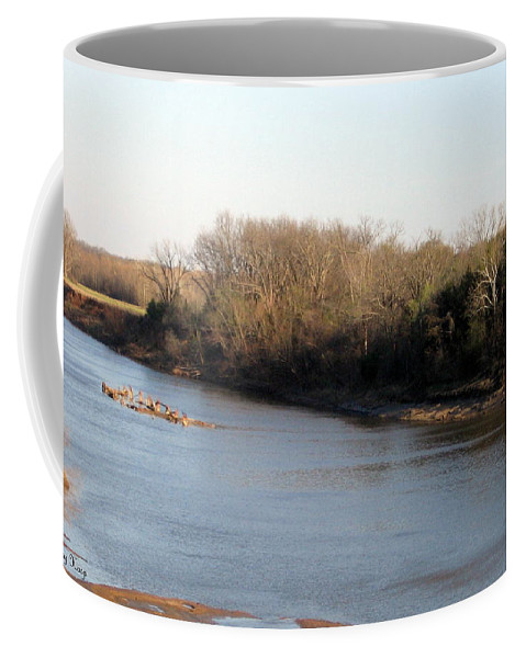 Red River Coffee Mug featuring the photograph Red River Looking East by Amy Hosp