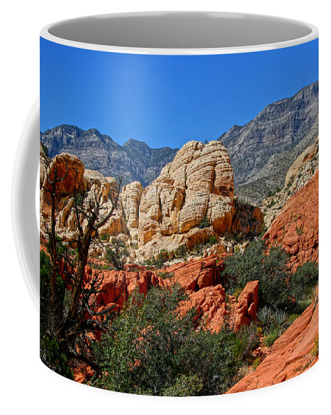 Red Rock Canyon Coffee Mug featuring the photograph Red Rock Canyon 5 by Chris Brannen