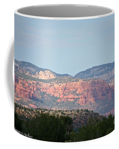 Outdoors Coffee Mug featuring the photograph Red Rock Evening by Susan Herber