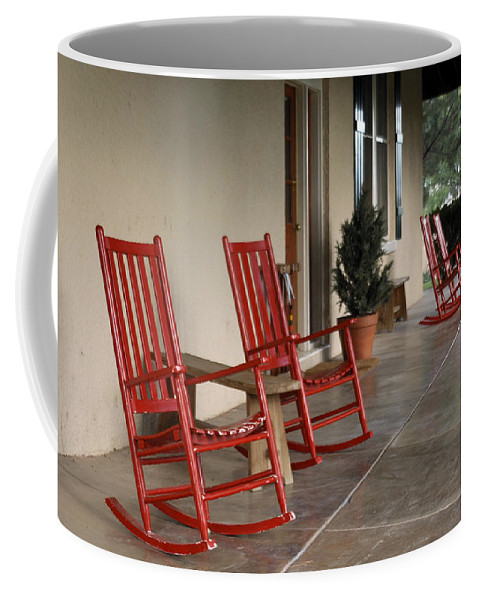 Red Coffee Mug featuring the photograph Red Rockers 21159 by Jerry Sodorff