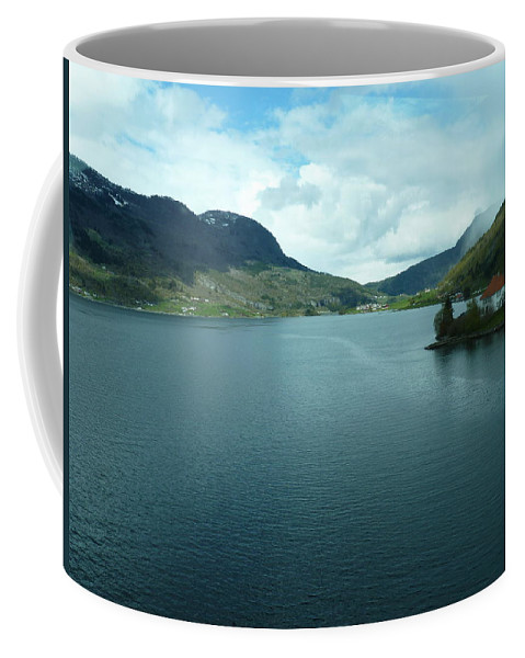 Coffee Mug featuring the photograph Red Roof by Katerina Naumenko