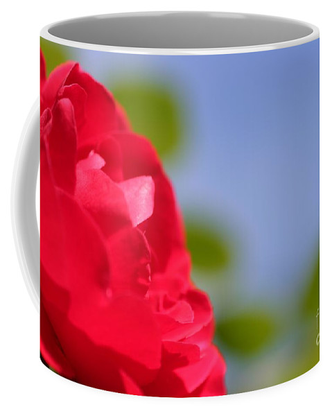 Flower Coffee Mug featuring the photograph Red Rose by Henrik Lehnerer