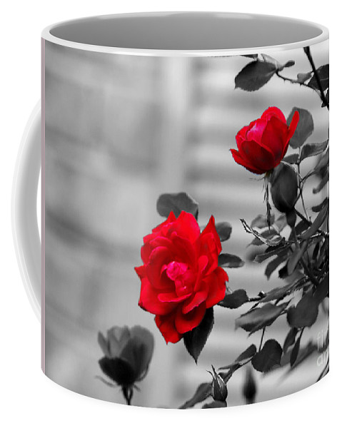 Rose Coffee Mug featuring the photograph Red Roses by Jai Johnson