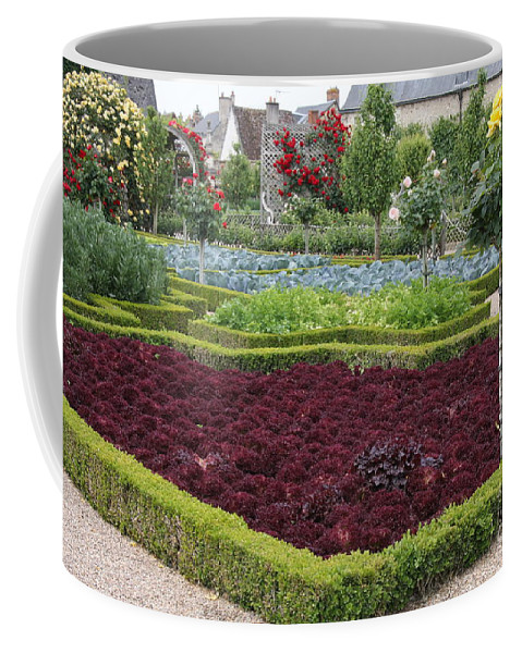 Salad Coffee Mug featuring the photograph Red Salad And Roses - Chateau Villandry Garden by Christiane Schulze Art And Photography