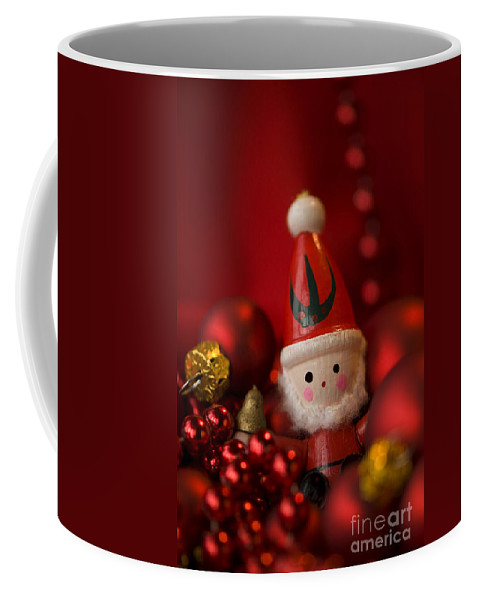 Baubles Coffee Mug featuring the photograph Red Santa by Anne Gilbert