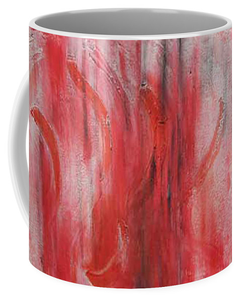 Abstract Coffee Mug featuring the painting Red Sea by Silvana Abel