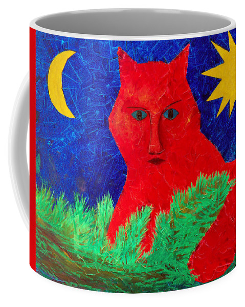 Fantasy Coffee Mug featuring the painting Red by Sergey Bezhinets