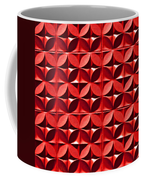 Abstracts Coffee Mug featuring the photograph Red Textured Wall by Art Block Collections