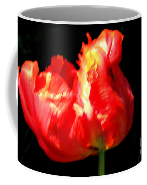 M C Sturman Coffee Mug featuring the painting Red Tulip Blurred by M c Sturman