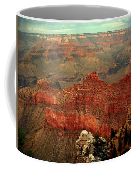 Grand Canyon Coffee Mug featuring the photograph Red Vista by J Allen