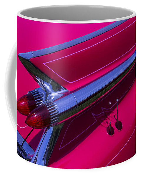 Red 1959 Cadillac Coffee Mug featuring the photograph Red1959 Cadillac by Garry Gay