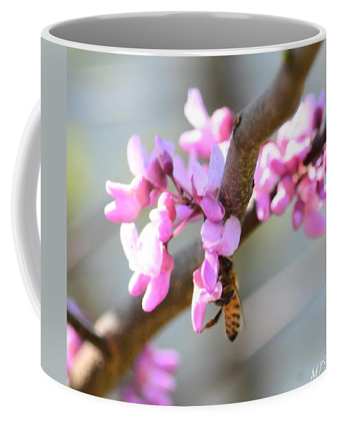 Redbud Pollinator Coffee Mug featuring the photograph Redbud Pollinator by Maria Urso