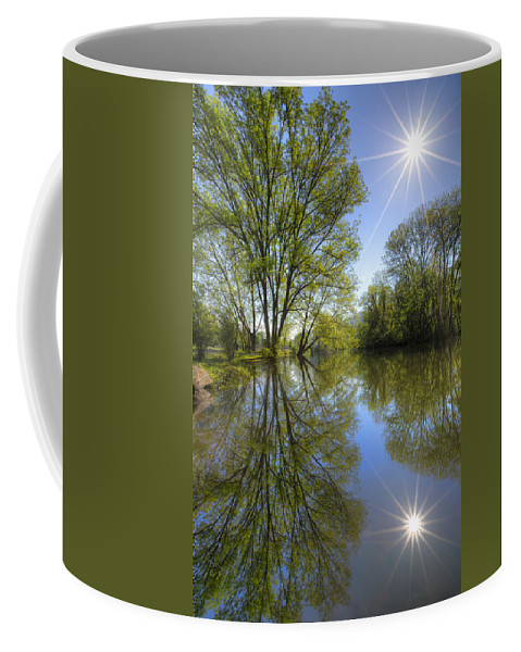 Appalachia Coffee Mug featuring the photograph Reflected Star by Debra and Dave Vanderlaan