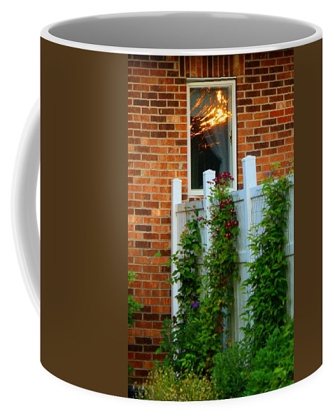 Architecture Coffee Mug featuring the photograph Reflecting On Life by Kathryn Meyer
