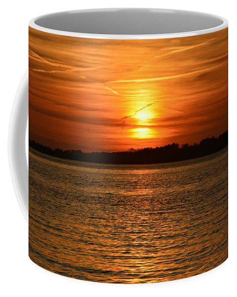 Sunsets Coffee Mug featuring the photograph Reflecting Sun by Lisa Wooten