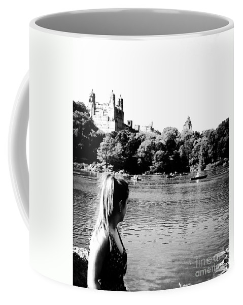 Black And White Coffee Mug featuring the photograph Reflection In Black And White by Christy Gendalia