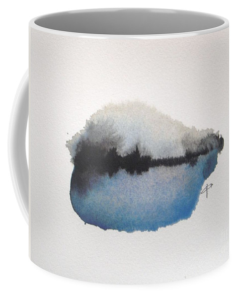 Abstract Coffee Mug featuring the painting Reflection in the lake by Vesna Antic