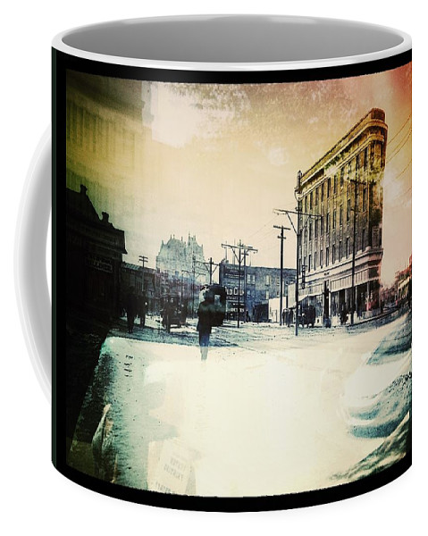 Street Photography Coffee Mug featuring the photograph Reflection Of Colour by The Artist Project