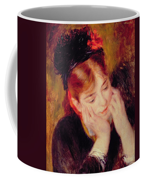 Reflection Coffee Mug featuring the painting Reflection by Pierre Auguste Renoir