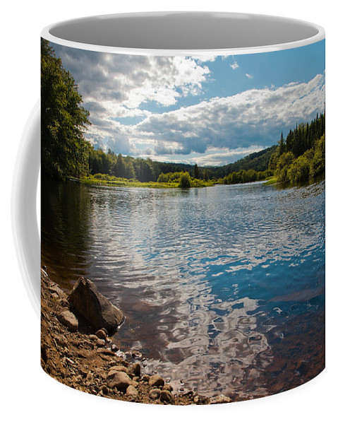Adirondack's Coffee Mug featuring the photograph Reflections At The Green Bridge by David Patterson