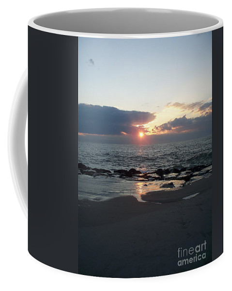 Reflections Coffee Mug featuring the painting Reflections Cape May Point by Eric Schiabor