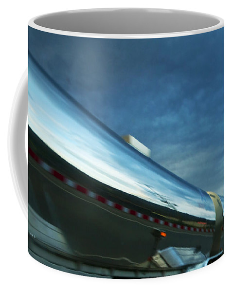 Trucks Coffee Mug featuring the photograph Reflections In The Passing Lane by Theresa Tahara