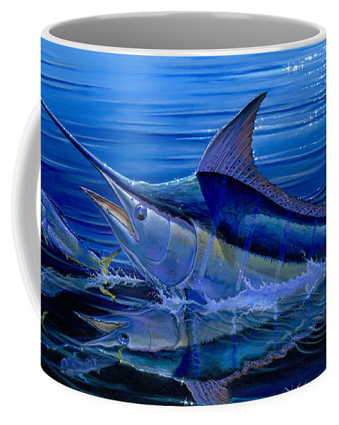 Marlin Coffee Mug featuring the painting Reflections Off0058 by Carey Chen