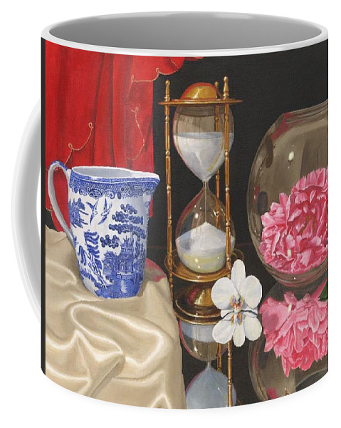 Still Life Coffee Mug featuring the painting Reflections by Richard Harpum