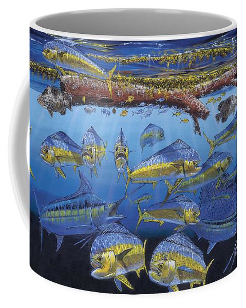 Fish Coffee Mug featuring the painting Refuge Off00110 by Carey Chen