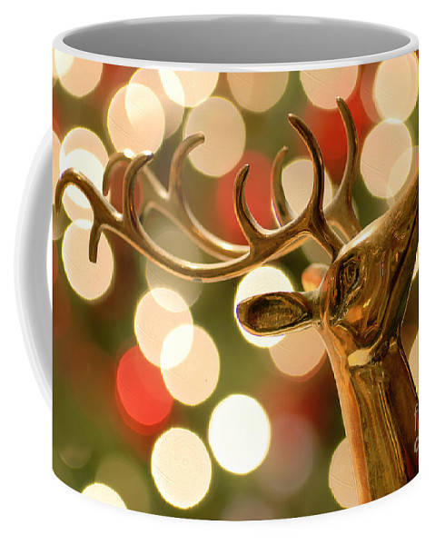 Antler Coffee Mug featuring the photograph Regal Reindeer by Amy Cicconi