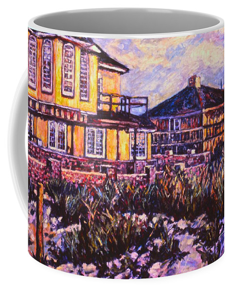 Landscape Coffee Mug featuring the painting Rehoboth Beach Houses by Kendall Kessler