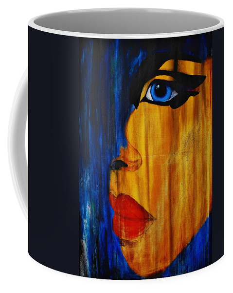 Abstract Coffee Mug featuring the painting Reign Over Me 3 by Michael Cross
