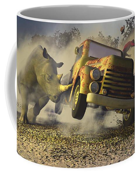 Dieter Carlton Coffee Mug featuring the digital art Relative Mass by Dieter Carlton