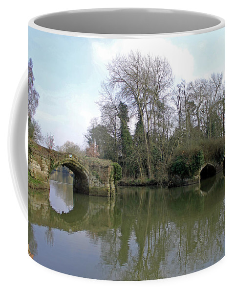 Great Bridge Coffee Mug featuring the photograph Remains Of Old Bridge Warwick by Tony Murtagh