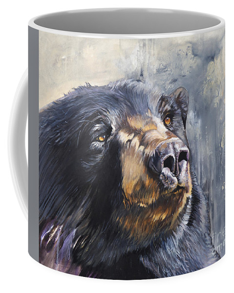 Bear Coffee Mug featuring the painting Remember Me by J W Baker