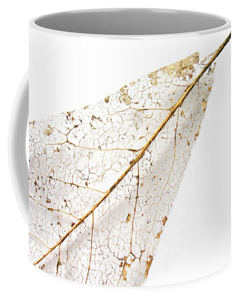 Leaf Coffee Mug featuring the photograph Remnant Leaf by Ann Horn
