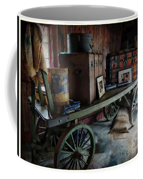 Marcia Lee Jones Coffee Mug featuring the photograph Remnants Of A Rr Station by Marcia Lee Jones