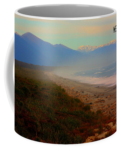 New Zealand Beach Coffee Mug featuring the photograph Remote by Amanda Stadther