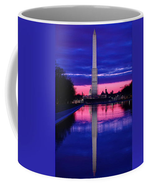 Metro Coffee Mug featuring the photograph Repairing The Monument I by Metro DC Photography