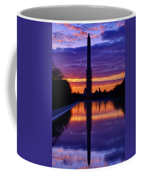 Metro Coffee Mug featuring the photograph Repairing The Monument IIi by Metro DC Photography