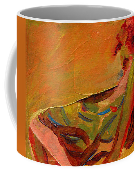 Art Coffee Mug featuring the painting Repose by Julianne Felton