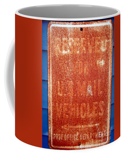 Signs Coffee Mug featuring the photograph Reserved by Ed Weidman
