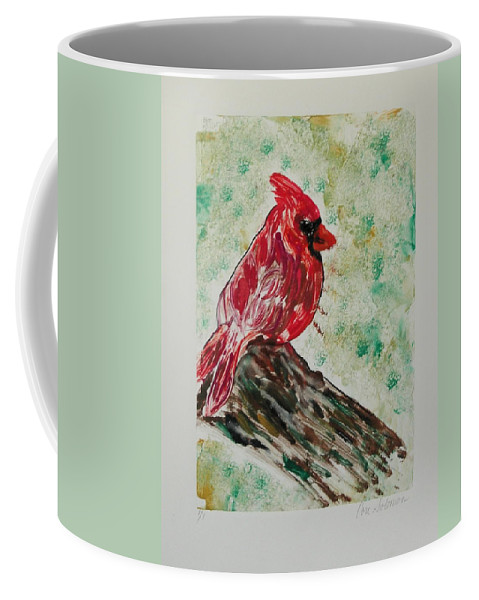 Bird Coffee Mug featuring the mixed media Rest Stop by Cori Solomon
