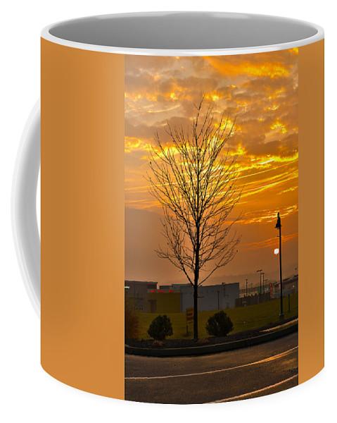 Shopping Center Coffee Mug featuring the photograph Retail Dawn by Jeff Kurtz